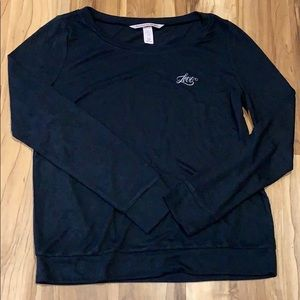 Victoria's Secret Long Sleeve Love Black Shirt